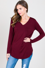 Load image into Gallery viewer, Modal LS V Neck Top (10 Colours)