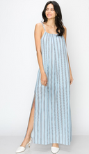 Load image into Gallery viewer, Multi Stripe Slip Maxi Dress