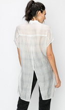 Load image into Gallery viewer, Grid Print Maxi Top (2 Colours)