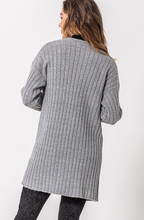 Load image into Gallery viewer, Ribbed Open Cardigan