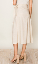 Load image into Gallery viewer, Wrap Midi Linen Skirt