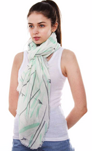 Load image into Gallery viewer, Swallows Print Oblong Scarf