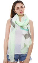 Load image into Gallery viewer, Multi Color and Print Oblong Scarf