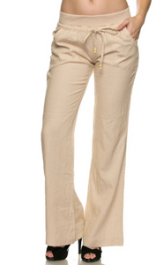 Linen Pants with Jersey Waistband