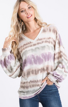 Load image into Gallery viewer, LS Tie Dye Top with Layered Sleeves