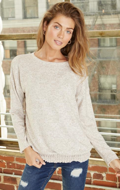 Brushed Hacci Drop Shoulder LS Sweater