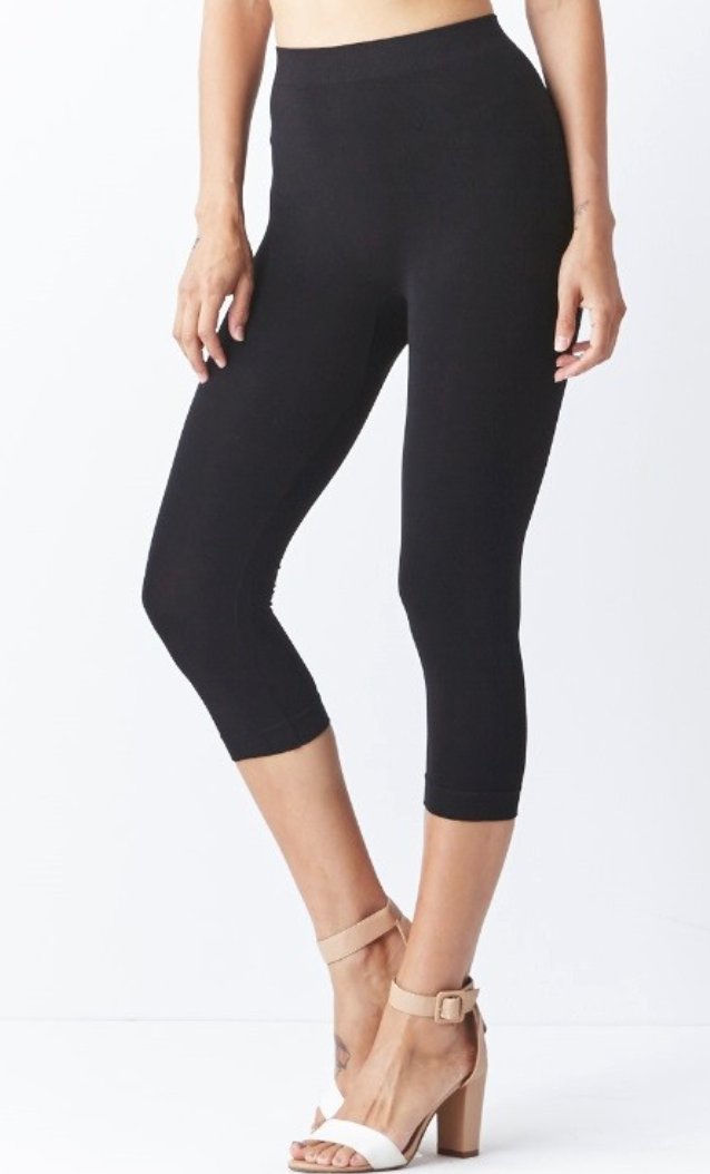 Modal Seamless Capri Leggings