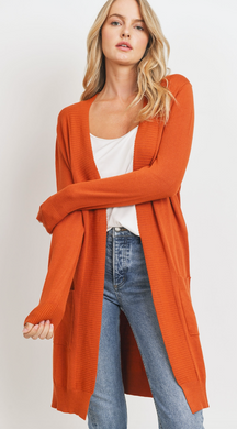 Solid Open Knit Pocket Cardigan (3 Colours)