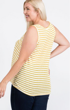 Load image into Gallery viewer, Sleeveless Tank with Twisted Bottom - Plus Size (2 Colours)