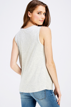 Load image into Gallery viewer, Mini Striped Modal Twist Front Tank (2 Colours)