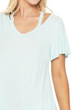 Load image into Gallery viewer, V-neck Cut Out SS Top (2 Colours)