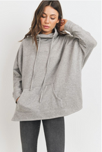 Load image into Gallery viewer, Turtle Neck Oversize Knit Sweatshirt
