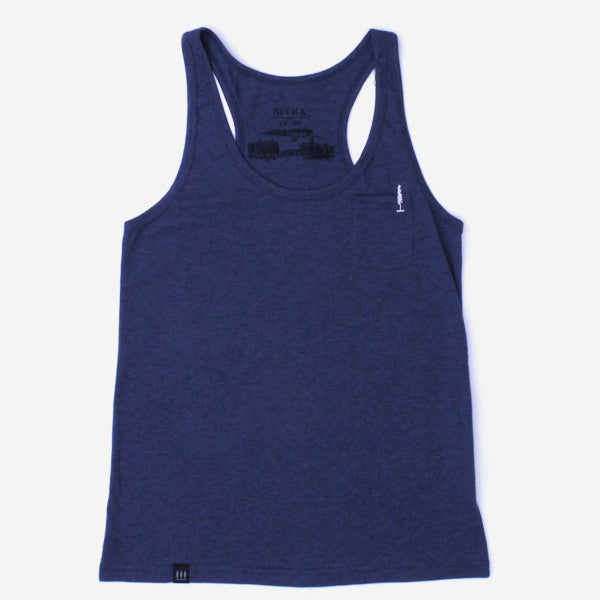 Girls Drop In Racer Back Tank - Indigo