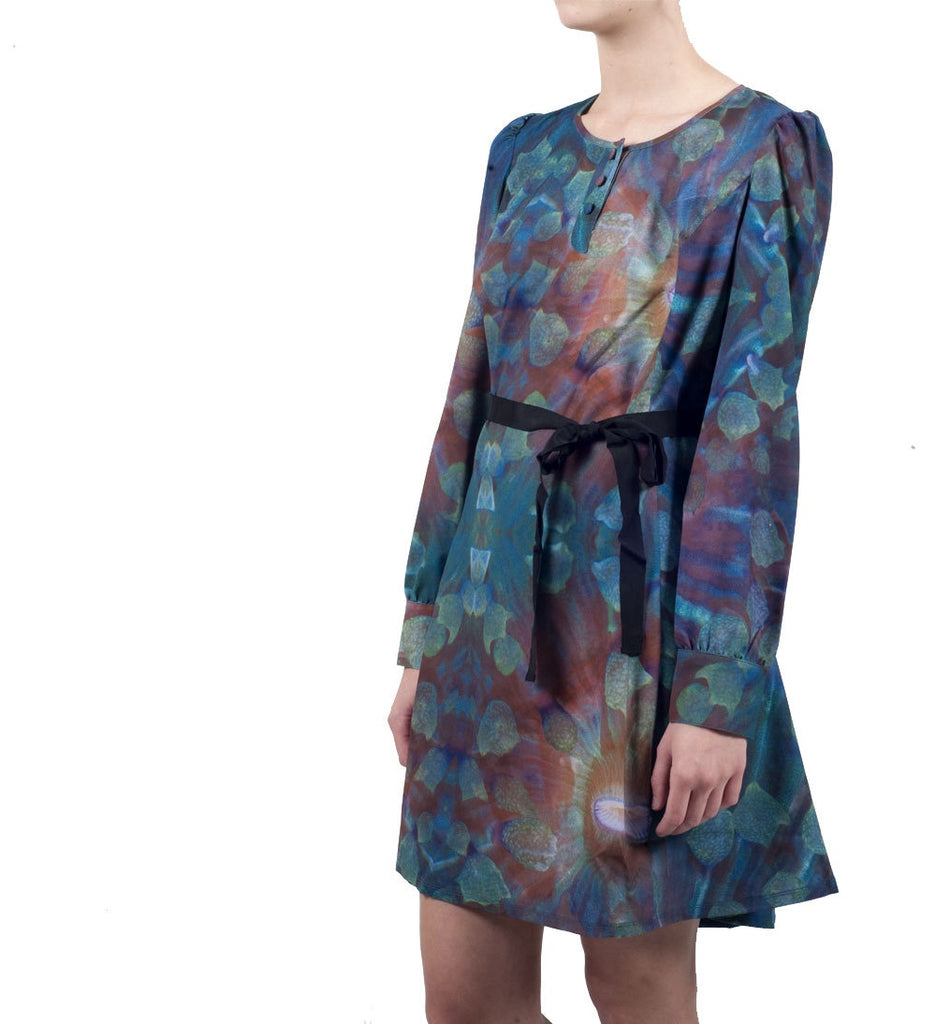 Womens Molly Dress - Sea Print