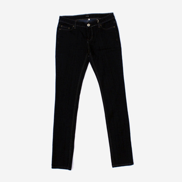 Girls Pristine Rider Denim - Black Raw