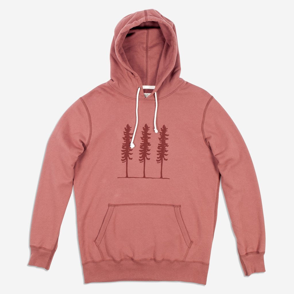 Mens Organic Mid Weight Triple Threat Pullover (Copper Paint Red)