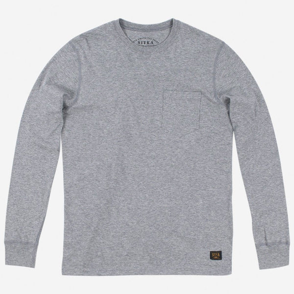 Mens L/S Pocket T-Shirt (Heather Grey)