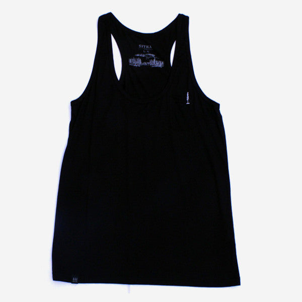Girls Drop In Racer Back Tank - Black