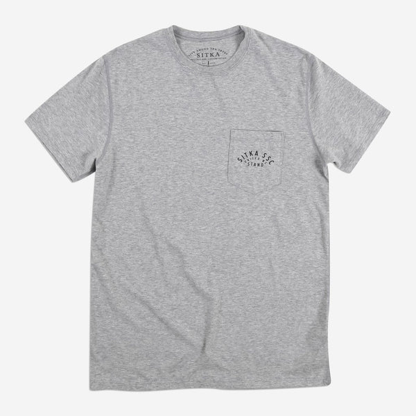 Mens United We Stand Pocket T-Shirt (Heather Grey)