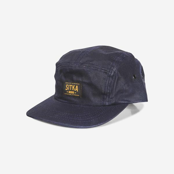Waxed Cotton Camp Cap (Navy)