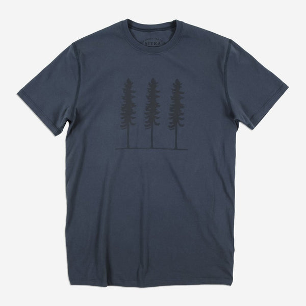 Mens Organic Triple Threat T-shirt (Navy)