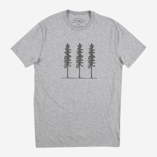 Mens Organic Triple Threat T-shirt (Heather Grey)