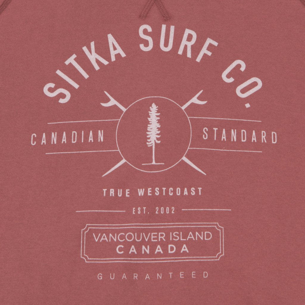 Womens Organic Mid Weight Surf Co. Crew (Copper Paint Red)