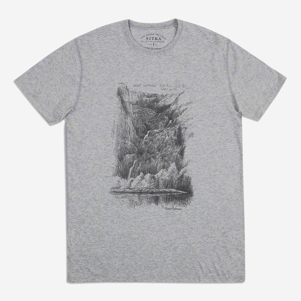 Mens Organic Bateman T-shirt (Heather Grey)