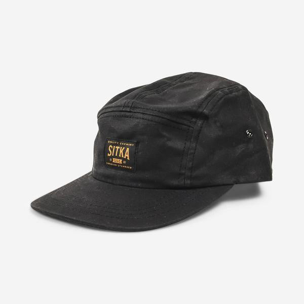 Waxed Cotton Camp Cap (Black)
