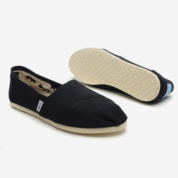 Mens Black Canvas Classics