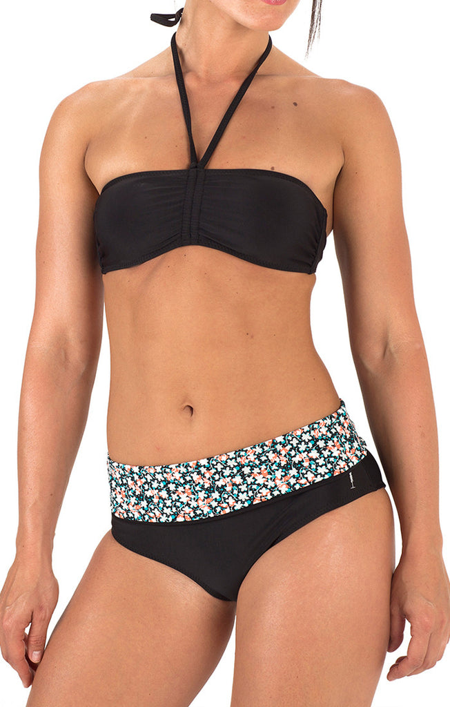 Gidget Fold Over Bikini Bottom - Black