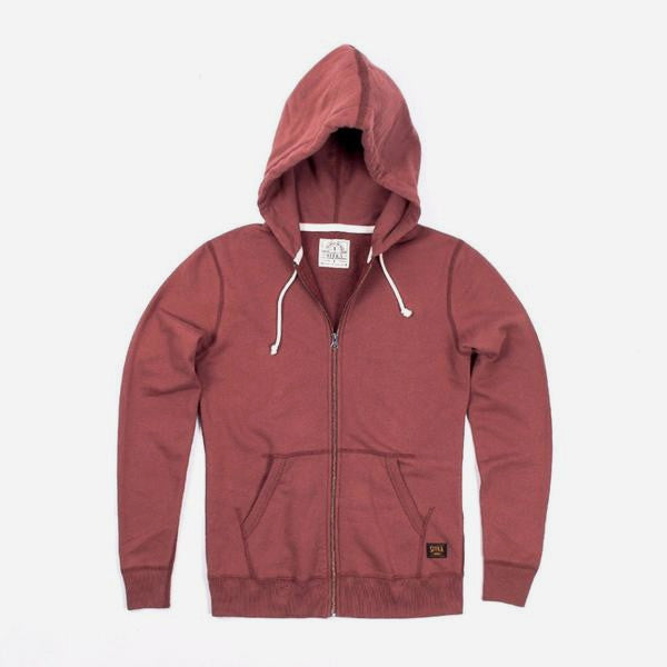 Womens Organic Mid Weight Zip Standard Hoody (Copper Paint Red)