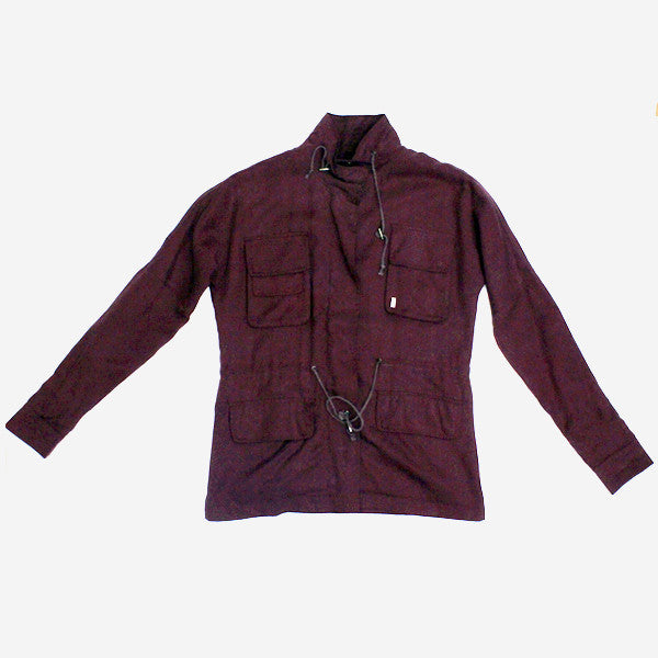 Girls Dhara Utility Jacket - Burgundy