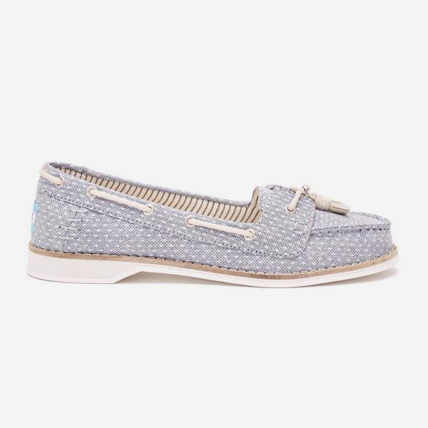 Womens Chambray Dot Quincy Slipons
