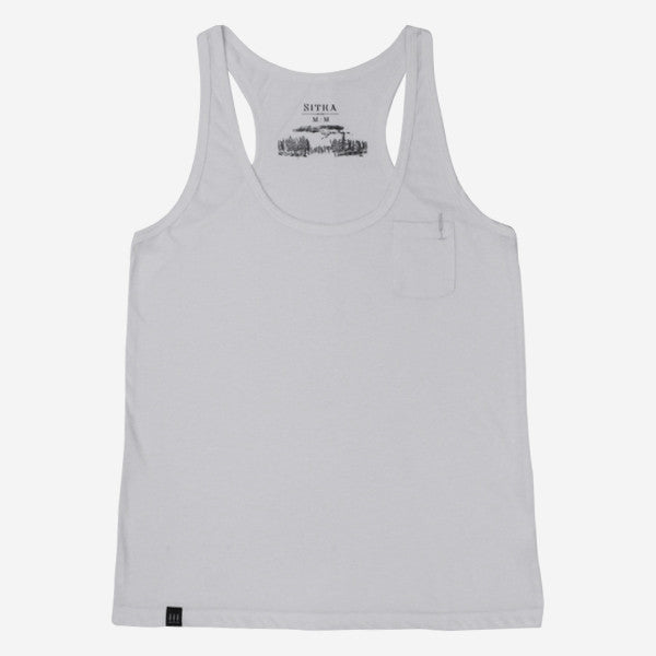 Girls Drop In Racer Back Tank - Bright White