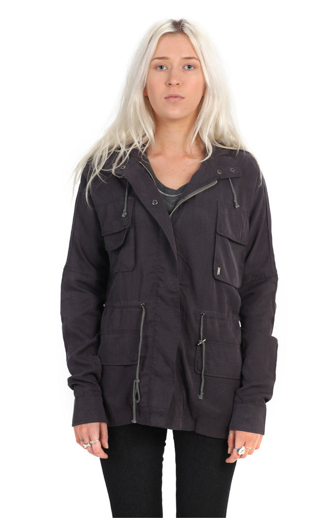 Girls Dhara Utility Jacket - Charcoal