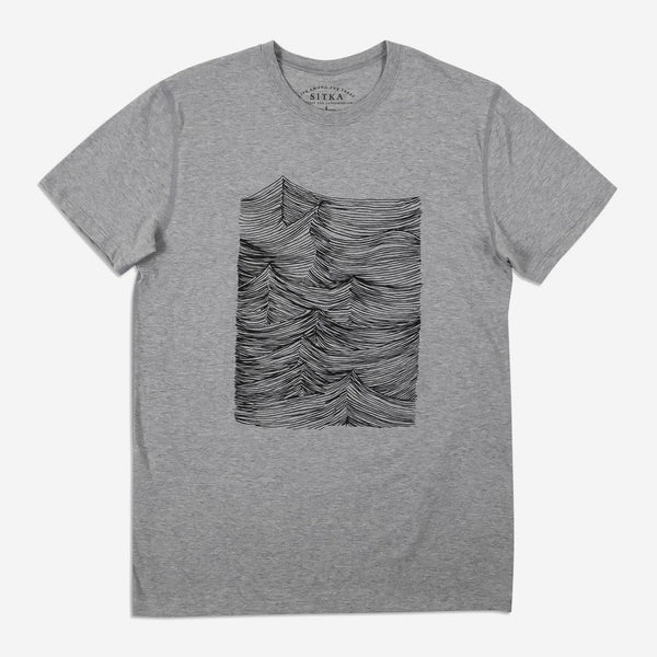 Mens Rising Seas T-Shirt (Heather Grey)