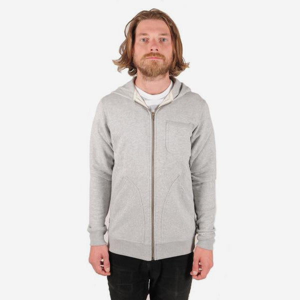 Mens Hunter Zip Hood – Heather Light Grey