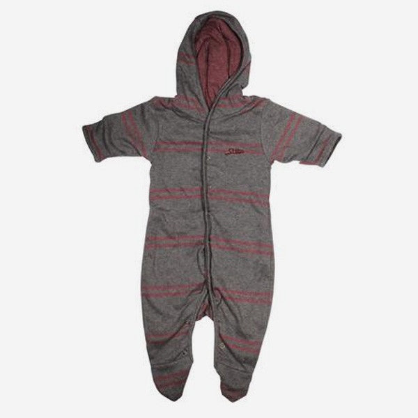 Baby Tumbler Hooded Jumper - Grey Stripe