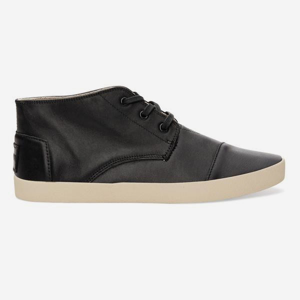 Mens Black Mid Leather Paseo