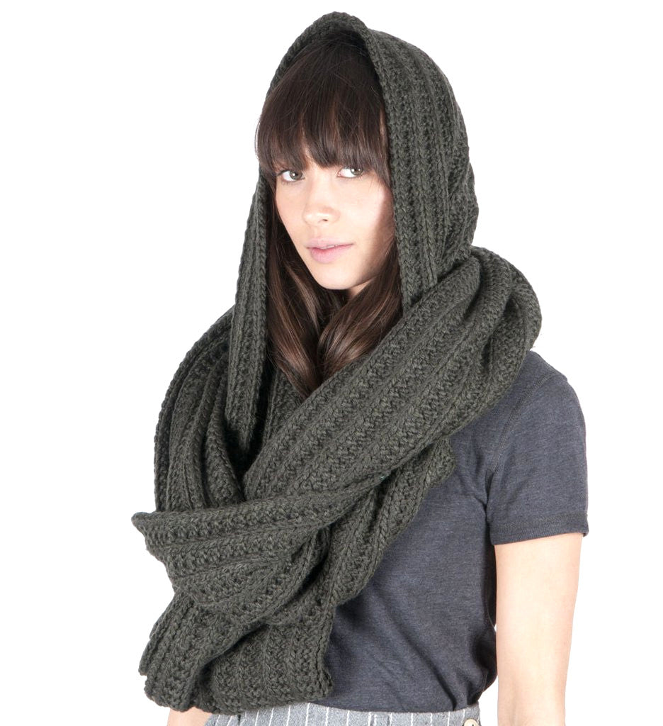 Womens Blue Grass Loop Scarf - Rosin Green