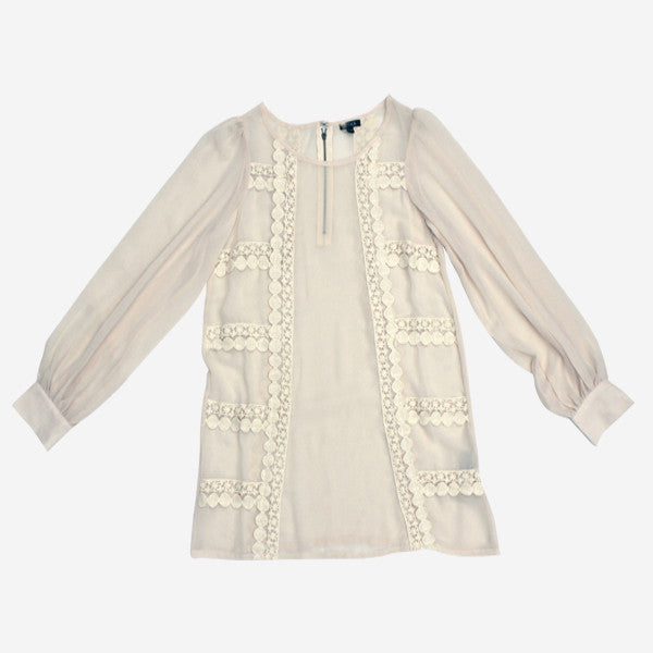 Womens Meri A-line Blouse - Natural White