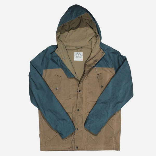 Mens Out Trip Jacket - Tan Heritage Blue