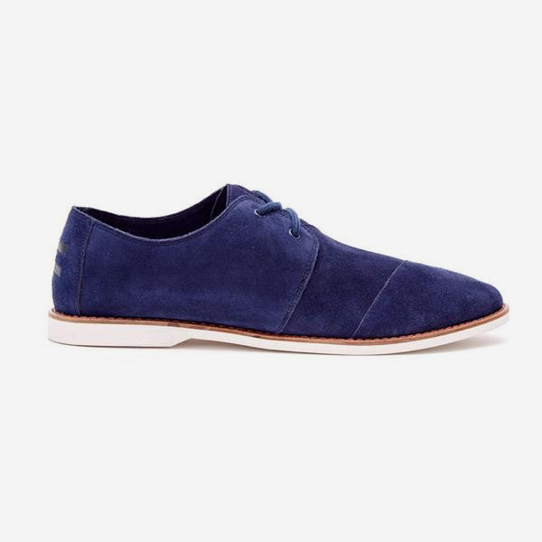 Mens Oxford Navy Suede Hensleys