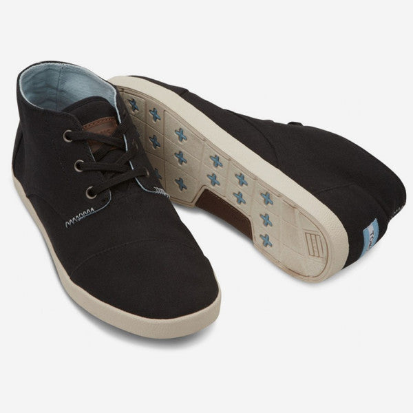 Mens Black Canvas Mid Paseo