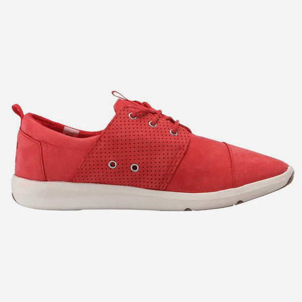 Womens Red Nubuck Del Ray Sneakers