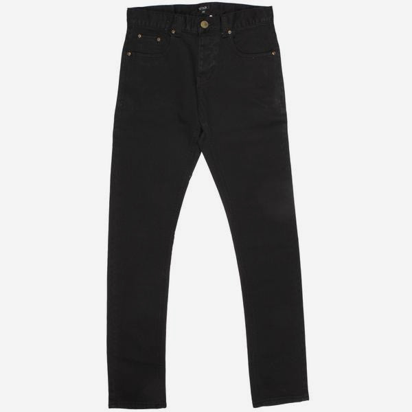 Mens Slim Sam Denim - Black Raw