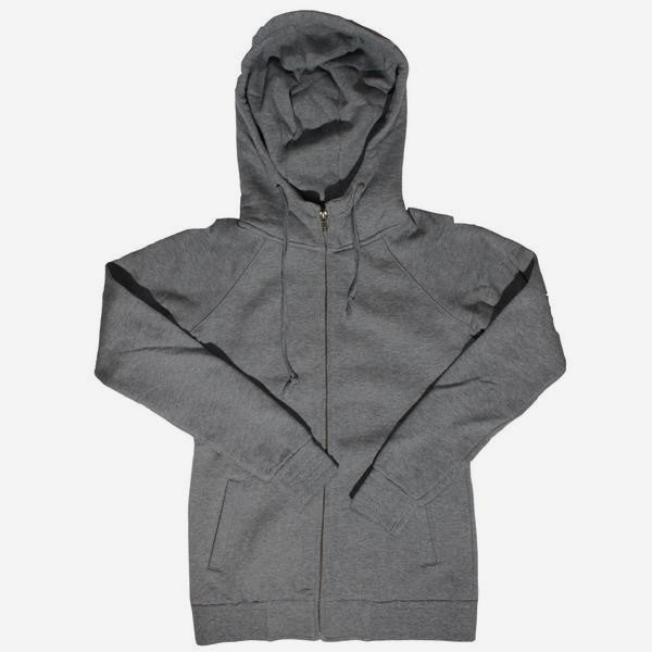 Womens Blank Heavy Weight Raglan Hoodie – Grey
