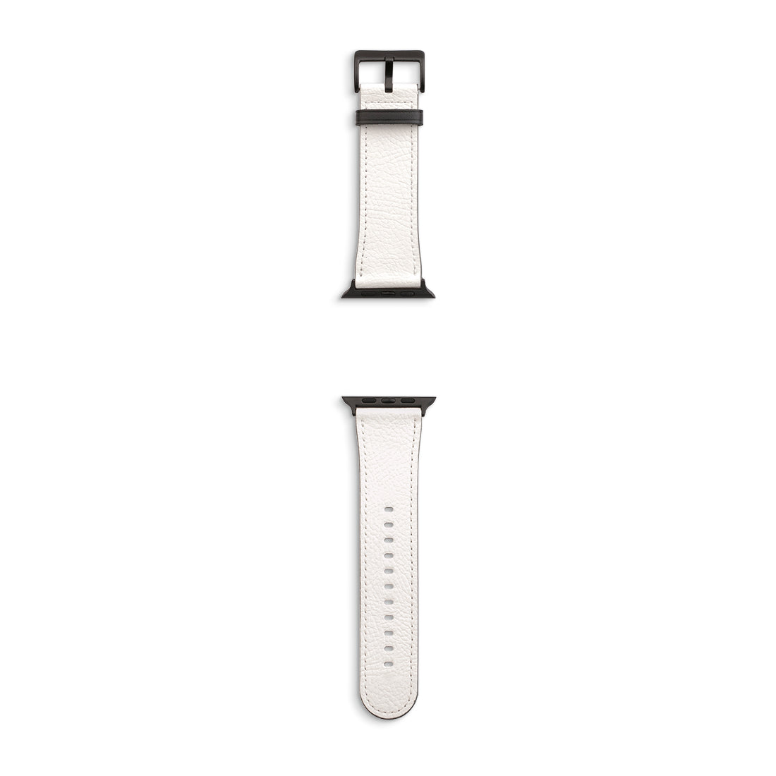 Apple Watch PU Leather Band with Black Buckles/Lugs