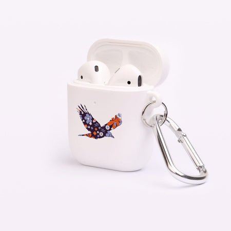For Apple Airpod White Case, Abstract Bird 1